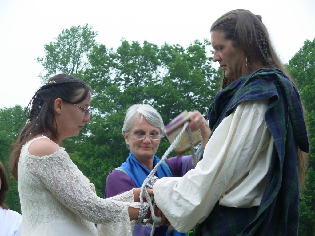 Handfasting Ceremony with Steph and Eric.